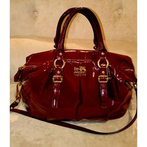 COACH Madison Juliette Crimson/Gold RARE 💋